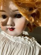 Antique Handwerck 28 Bisque Head Doll 119-13 Germany Red Hair