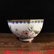 Old Chinese Antiques Qianlong Mark Handmade Pure Copper Cloisonne Octagonal Bowl