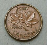 1962 Canadian Penny One Cent From Coin Collection Canada 1 Cent