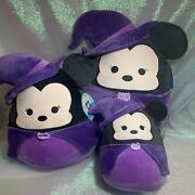 """Benefits Charity Vhtf Lot Of 3, 16"""" 12"""" And 8"""" Minnie Mouse Witch Squishmallows"""