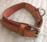 Authentic Hermes Leather Dog Collar For Small To Medium-sized Dogs F/s
