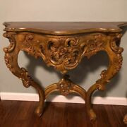 Antique Hand Carved Gold End Tables