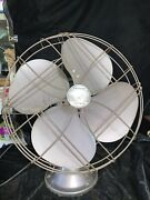 Vintage Emerson 77648-te 16 Oscillating Electric Fan 3-speed Works Great