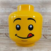 Lego Head Sort Sorter And Store 12 High Lego Head Container W Handle Rare Tongue