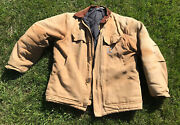 C003 Jacket Large Mens Brown Duck Arctic Traditional Coat Quilt Lined