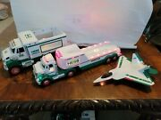 2006 Hess Oil Toy Truck With Lights And Jet Plane Lot Of 3