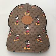 X Disney Baseball Hat Cap Size L Micky Mouse Beige Made In Italy
