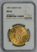 1900 20 Liberty Gold Double Eagle Ms62 Ngc Free Shipping