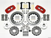 Wilwood Aero6 Front Truck Kit 14.25in Drill Red For 97-03 Ford F150 - Wil140-128