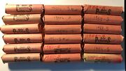 18 Lincoln Wheat Penny Cent Rolls 1950s Lot Wheat Memorial Coin 1950-1954 S Mint