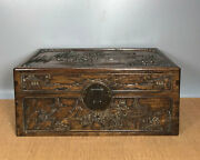 16and039 Chinese Antique Wood Box Natural Old Rosewood Box Jewelry Box Landscape