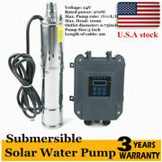 3 Dc Solar Water Pump 24v 270w Submersible Bore Deep Well Pump Andmppt Controller