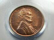 1911-s 1c Lincoln Wheat Cent Ms-64rb Pcgs Nice Coin Touch Of Color