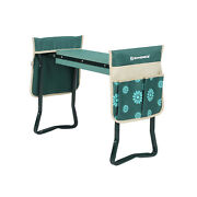 Garden Kneeler Folding Garden Seat And Bench With Thickened Kneeling Pad