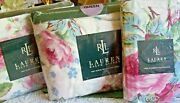 Rare 1990and039s New Nip Water Floral Queen Sheet Set Complete
