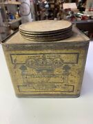 Antique Crown Oil Transmission Can Muskogge Refining Co. Muskogee Oklahoma Rare