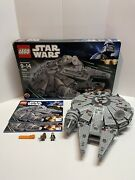 Lego Star Wars Millennium Falcon 7965 Ship Is 100 Only 2 Minifigs