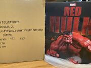 Sideshow Red Hulk Premium Format Statue With Exclusive Two Heads 453/500