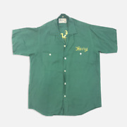 Vintage Green And Yellow Bowling Button Up