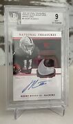 2020 Henry Ruggs National Treasures 1/1 Nike Logo Glove Patch Auto Rpa Rc Bgs 9