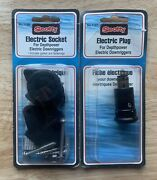 Scotty Downrigger Electric Plug No. 1127 And Electric Socket No. 1126 Brand New