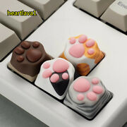 Cat Paws Key Cap Kawaii Keycap 4 Colors Keycaps For Mx Mechanical Keyboard Gift