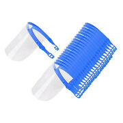 20pcs Transparent Safety Full Face Shield Cover Bbq Protector Reusable