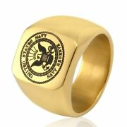 Gold Eagle Usa Military Ring United States Marine Corp Us Army Men Rings Jewelry