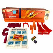 Vintage 1967 Hot Wheels Stunt Action Set Complete Rare Deora W Button And Booklet