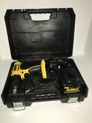 Dewalt Dc720 18v Cordless 1/2 Drill W/ Dc9099 Battery And Dw9116 Charger W/ Case