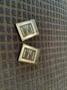 Sony Xqd G Series Two 120 Gb Memory Cards Used With Nikon...sold My Camera