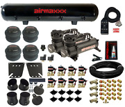 Black 480 Air Compressors Valves 7 Switch And Tank Air Ride Kit For 1958-64 Impala
