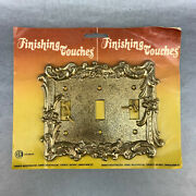 New Vintage 3 Gang Decorative Metal Switch Plate Cover Antique Brass Electric