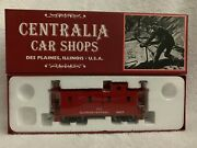 Centralia Car Shops Ccs1028 Illinois Central Red Caboose 9857 Steel Wheels