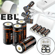 Lot Cr123a 16340 Lithium Ion Battery Usb Rechargeable Batteries + Cable Upgraded