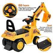 Kid Ride On Car Excavator Track Digger Toy Child Construction Tractor +horn Seat