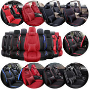 Luxury Car Seat Cover Auto Suv 5-sits Interior Pu Leather Cushion Frontandrear Set