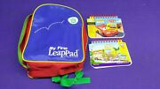 Leap Frog My First Leap Pad Backpack Bag Carry Case Bag And 2 Games