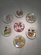 7 Avon Cherished Moments Mothers Day Collectable 22k Gold Rimmed Saucers Plates