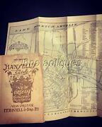 1903 1st Edition Hansell's Guide To New Orleans W/folding Maps. Photos, 353pgs