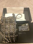Pre-owned 99new Black Gold Hardware Phone Holder Crossbody Bag Authentic