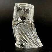 Vintage Signed Stunning Waterford Crystal Glass Owl 3.25 Tall Ex Cond Clear