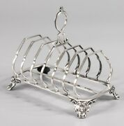 Antique English Silver Plate Toast Rack