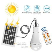 Solar Powered Shed Light Bulb Led Hang Up Lamp For Chicken Coop Portable Light