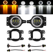 Pair 4inch Led Fog Lights Hi/lo Drl Turn Signal Lamps For Hummer H2 2004-2009