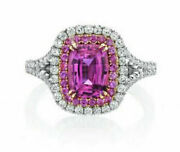 1.32ct Natural Round Diamond 14k Solid White Gold Ruby Wedding Cocktail Ring
