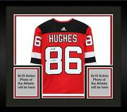 Frmd Jack Hughes Nj Devils Signed Red Authentic Jersey And 2019 1 Pick Insc
