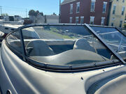 2001 Crownline 180 Br Right Side Front Windshield Curved Glass Piece