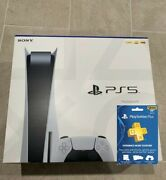 Sony Playstation 5 Ps5 Console Disc Version New/sealed Ps Plus Ships Now