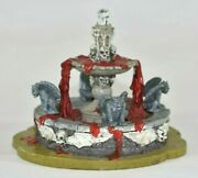 Lemax Spooky Town Halloween Village Accessory Haunted Fountain Blood Retired